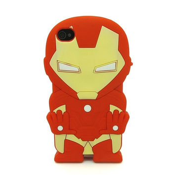 Universal Trading Superheroes & Superman series Design Cartoon Silicone case For Iphone 5C(Iron Man) = 1946672516