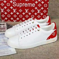 LV Retro Women Men white/Red Shoes Girl Sneakers Tail