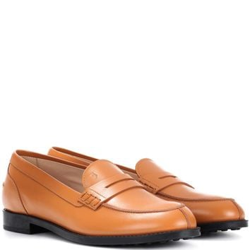 Gommino leather city loafers