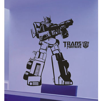 Large Transformers Wall Decal, Transformer Wall Sticker transformers wall decals Vinyl Wall Sticker
