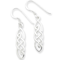 925 Sterling Silver Braided Almond Drop Celtic Knot Dangle Earrings | Body Candy Body Jewelry