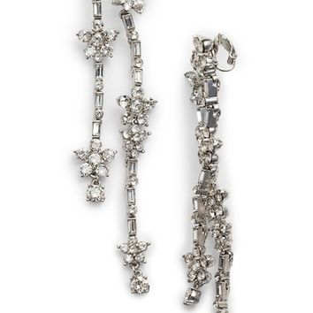 Oscar de la Renta Multi Floral Crystal Drop Earrings | Nordstrom