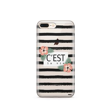 CLEARANCE iPhone 7 Clear Case Cover - C'est La Vie