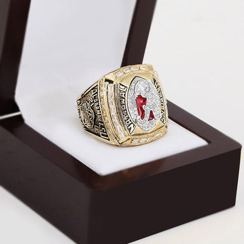 Replica 2011 Alabama Crimson Tide Championship Ring Size 10-13 With High Quality Wooden Box Fan