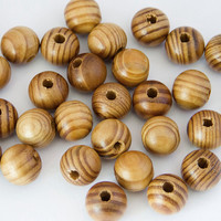 Pine Natural Round Wood Spacer Beads Fit for bracelet necklace DIY jewelry Making 50pcs