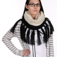 Black Cable Knit Infinity Neck Warmer
