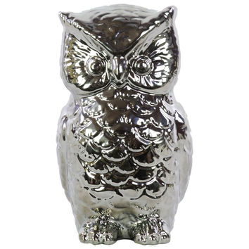 Ceramic owl figurine
