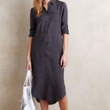 Maeve Drawstring Midi Shirtdress