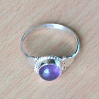 Classic Design Ring Amethyst in Silver, Crystals,Bronze, Jewelry, Gift, Holiday, Handmade Jewelry, silver ring, Free Shipping