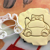 Snorlax Pokemon Cookie Cutter - Made from Biodegradable Material