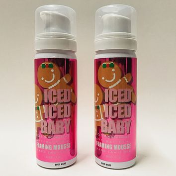 2 Bath & Body Works ICED ICED BABY Iced Gingerbread Foaming Mousse Hand Sanitizer