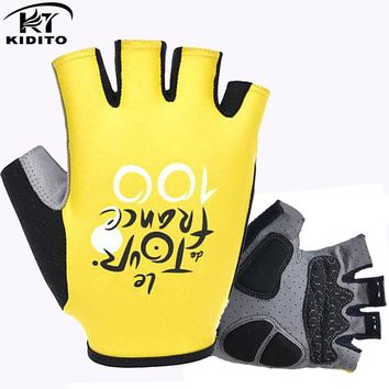 Tour de France Pro GEL Pad Cycling Ciclismo Gloves/Mans Bike Sports Gloves/Breathable Racing MTB Bicycle Cycle Cycling Gloves
