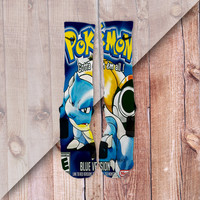 POKEMON BLUE CUSTOM NIKE ELITE SOCKS BLASTOISE