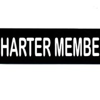 Motorcycle Helmet Sticker - CHARTER MEMBER Helmet Sticker