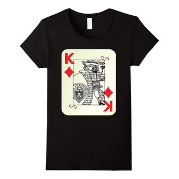 King of Diamonds Card Costume T-Shirt Couples Halloween
