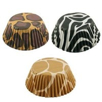 Fox Run Brands Animal Print Baking Cup Papers, Set of 75