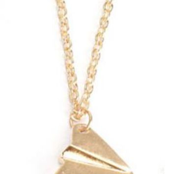 Love in the Air Paper Airplane Charm Necklace | Sincerely Sweet Boutique