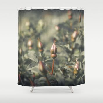 Unblown Rose Bush Shower Curtain by Cinema4design | Society6