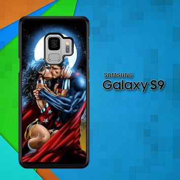 Superman Wonderwoman Kiss X0205 Samsung Galaxy S9 Case
