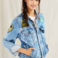 Urban Renewal Recycled Three Patch Denim Jacket