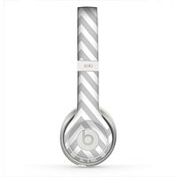 The Gray & White Sharp Chevron Pattern Skin for the Beats by Dre Solo 2 Headphones