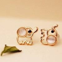 CY-Buity New Fashion Lovely Cute Baby Elephant Cat Umbilicaria Stud Earring Jewelry For Christmas Decoration