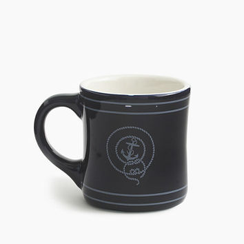 J.Crew Mens Anchor Ceramic Mug