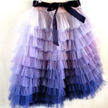 Carolina Hand Dyed Ombre Skirt by ouma on Etsy