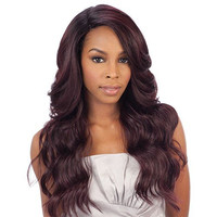 Freetress Equal Brazilian Natural Deep Invisible L Part Lace Front Wig DANITY (1B)