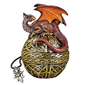 Park Avenue Collection Shield Of The Celtic Orb Dragon Statue