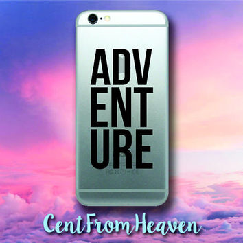 2 EXTRAS FREE - ADVENTURE iPhone Android Samsung Galaxy Phone Apple Decal Sticker Quote Travel Wanderlust Beautiful