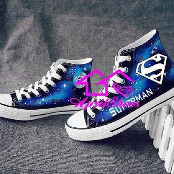 galaxy shoes with hero symbols custom sneakers not converse
