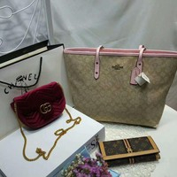Year-End Promotion 3 Pcs Of Bags Combination (Coach Handbag ,Gucci Bag ,Lv Wallet)
