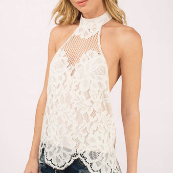 Above All Lace Halter Top