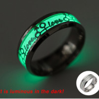 "Glow in The Dark ""Love"" Ring (Single)"