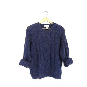 vintage mohair blend sweater. purple speckled sweater. coziest Fall sweater. Soft fuzzy sweater.