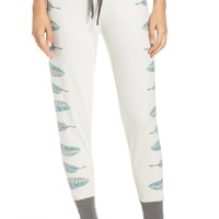 PJ SALVAGE | Feather Print Pajama Pant | Nordstrom Rack