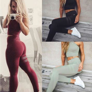 Print Hot Sale Stretch Yoga Leggings [448967344157]