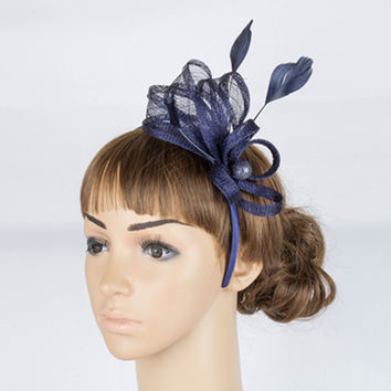 Elegant multiple color sinamay  fascinator headwear cocktail church hair accessories  headpiece bridal hats  TMYQ027