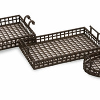 Set of 3 Vintage Styled CKI Urban Iron Trays