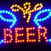 "Beer Cheer LED Sign 19"" X 10"" [Bright] [Flashing] [On/off Switch]"