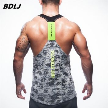 BDLJ Men's Fitness tank top Low Cut Armholes