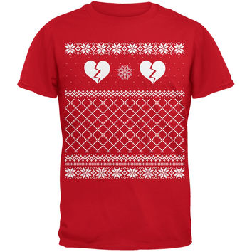 Anti Love Ugly Sweater Red Adult T-Shirt