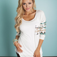 All Mine Sequins Top White