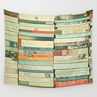 Bookworm Wall Tapestry by Cassia Beck
