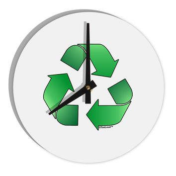 "Recycle Green 8"" Round Wall Clock  by TooLoud"