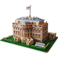 The White House 128-pc. 3D Wooden Puzzle by Puzzled (Natural)