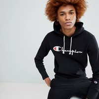 Champion Hoodie With Large Logo In Black at asos.com