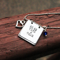 Couples or Family Charm Necklace - Storybook Necklace - Personalized Hand Stamped Necklace