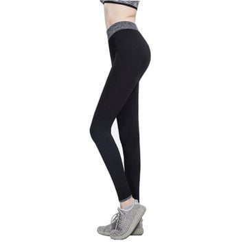 Edove Women Contrast Color Yoga Pants Capris Activewear Exercise Running Leggings Ankle Tights